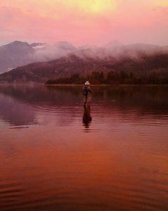 Peaceful Fishing on Green Lake